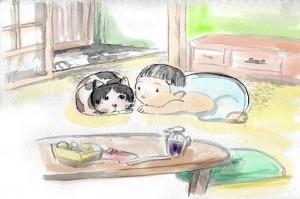 幼少の頃… 飼い猫「みーこ」は生活を分かち合う仲間だった。